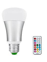 KWB 10W RGBWW E26/E27 LED Globe Bulbs A60(A19) 1 COB 900lm-1200lm lm Warm White / RGB (85-265V)