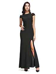 2017 TS Couture® Prom Formal Evening Dress Sheath / Column Off-the-shoulder Ankle-length Jersey with Split Front