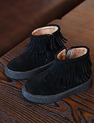 Girl's Sneakers Comfort Suede Casual Black Brown Gray