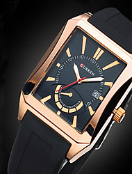 CURREN® Men Business watches Men's Quartz Date Analog Rectangle Dial Casual Watch Sports Relogio Masculino montre homme