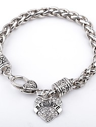 Bracelet Charm Bracelet Alloy Birthday Jewelry Gift Silver,1pc