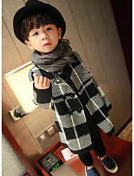 Boy's Casual/Daily Check Suit & BlazerCotton Winter / Fall Black