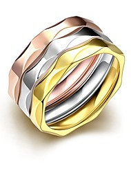 Stainless Steel Finger Ring Female 316L De Acero Inoxidable Jewelry Retro Gold Plated Rings For Women Anello Donna