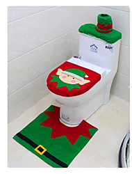 Christmas Toilet Set Of Three-Piece Christmas Elf Toilet Sets