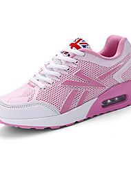 Feminino-Tênis-Conforto-Rasteiro-Verde Rosa Coral-Tule Couro Ecológico-Para Esporte