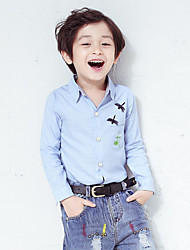 Boy's Casual/Daily Solid ShirtCotton Fall Blue / Brown / White