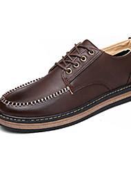 Черный / Коричневый / Желтый-Мужской-На каждый день-Полиуретан-На плоской подошве-Удобная обувь-Кеды