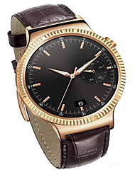 Men's Smart Watch Digital Genuine Leather Band Brown