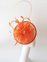Kentucky Derby Church Races Orange Flax Wedding Event Fascinator