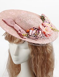 Women's Tulle / Fabric Headpiece-Wedding / Special Occasion / Casual / Outdoor Hats / Wreaths 1 Piece