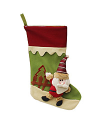 Christmas Decorations / Christmas Toys Holiday Supplies Santa Suits / Elk / Snowman Textile Dark Red / Green / Yellow All