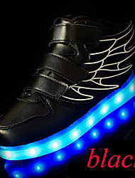 Boy's Sneakers Spring / Summer / Fall / Winter Comfort Leather Outdoor / Athletic / Casual Low Heel LED / Lace-upBlack / Blue / Pink /