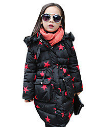 Girl's Casual/Daily Print Down & Cotton PaddedCotton / Polyester / Spandex Winter Black / Red