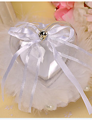 White 1 Ribbons / Bow / Faux Pearl Satin