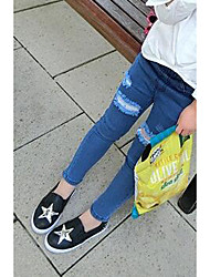 Girl's Casual/Daily Solid Pants / JeansCotton Spring / Fall Black / Blue