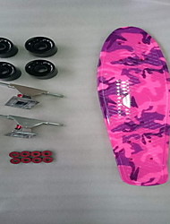 Skateboard wheel water transfer printing plastic fish plate Four-wheel single become warped