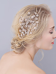 Opal Flower Twig Headpiece-Wedding / Special Occasion Hair Combs 1 Piece