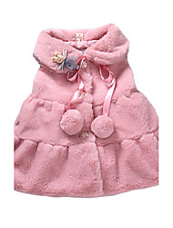 Girl's Casual/Daily Solid VestRabbit Fur Winter Pink / Yellow