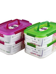 Houseware Plastic Multifunction Food Container Set with Handle(1.15L1.15L)*2P