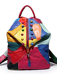 Casual Backpack Women PU Multi-color