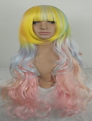 Harajuku Wig Japanese Harajuku Style 80cm Mix Color Cosplay  Wig  Halloween Costume Wig