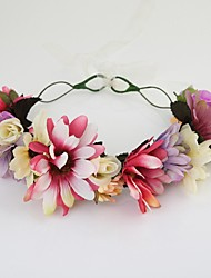 Women's / Flower Girl's Fabric Headpiece-Wedding / Special Occasion / Casual / Outdoor Wreaths 1 Piece Clear