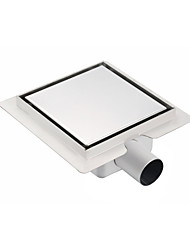 150mmX150mm Stainless Steel 304 Horizontal Shower Drain with Surrounding Tile Flange Waste Side Outlet without Hole on Surface