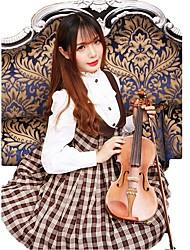 Skirt Sweet Lolita Lolita Cosplay Lolita Dress Coffee Brown Plaid Sleeveless Medium Length Dress For Woolen