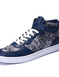 Men's Sneakers Spring / Fall Comfort PU Casual Flat Heel  Blue / Silver / Gray / Gold Sneaker