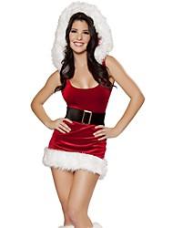 Fantasias de Cosplay Vermelho Terylene Acessórios de Cosplay Natal / Carnaval