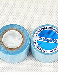 2pieces Lace Front Support Tape 2.5cm 3Yards American Blue Glue Neitsi Shine Bonding Tape Double-Sided for Tape-in Hair Walker Tape