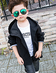 Boy's Casual/Daily Print Trench CoatCotton Winter Black / Red