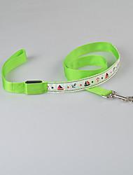 Собаки Поводки Строб Мультипликация Красный / Зеленый / Синий / Розовый / Желтый Нейлон