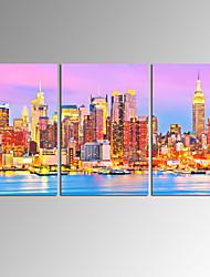 toile set Paysages Abstraits Modern,Trois Panneaux Toile Horizontale Imprimer Art Décoration murale For Décoration d'intérieur