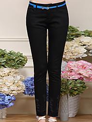 Damen Hose - Einfach Schlank Baumwolle / Elasthan Mikro-elastisch