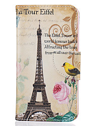 Tower Of Paris Pattern Painting PU Material Phone Cover For LG LG K10 K8 K7