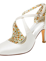 Women's Heels Spring / Summer / Fall  Stretch Satin Wedding / Dress Stiletto Heel Buckle Ivory