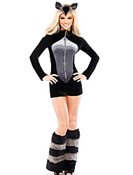 Cosplay Costumes Animal Movie Cosplay Black Solid Leotard/Onesie Halloween / Carnival Female Polyester