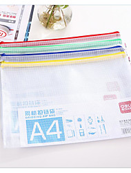 Paper Bag Transparent Plastic Mesh Zipper