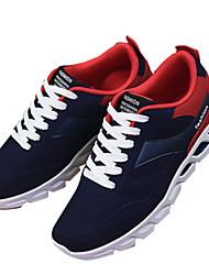 Masculino-Tênis-Conforto-Rasteiro-Preto / Azul / Vermelho / Preto e Vermelho / Preto e Branco-Tecido-Casual