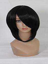 Popular Axis Powers Hetalia Fashion Black 35cm Short Straight Man Cosplay Wig