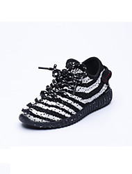 Boy's Athletic Shoes Fall Other Rubber Outdoor Athletic Flat Heel Lace-up Others Black White Other