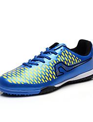 Men's Athletic Shoes Spring / Fall Comfort PU Athletic Flat Heel  Black / Blue Soccer