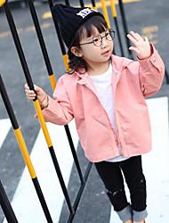 Mädchen Anzug & Blazer-Lässig/Alltäglich einfarbig Baumwolle Frühling / Herbst Rosa