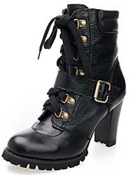Damen-High Heels-Lässig-PUKomfort-Schwarz