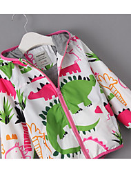 Girl's Casual/Daily Print Down & Cotton Padded / Suit & BlazerCotton Spring / Fall White