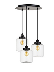 40 Pendant Light ,  Traditional/Classic Vintage Electroplated Feature for Mini Style Metal Living Room Dining Room