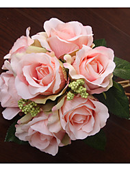 Wedding Flowers Round Roses Bouquets Wedding Dried Flower 19.7(Approx.50cm)