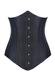 Women Overbust Corset Nightwear,Push-Up Solid-Medium Spandex Multi-color Women's