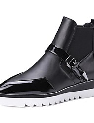 Women's Boots Comfort PU Casual Black White